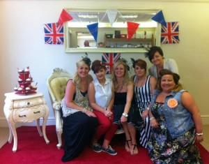 The team celebrate the Queens Jubilee